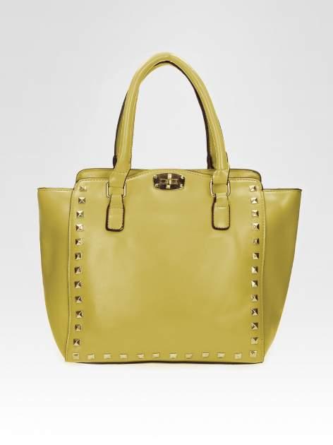 Zielona torebka na ramię z dżetami                                  zdj.                                  5