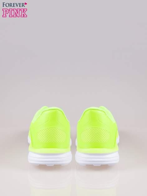 Zielone buty sportowe damskie z podeszwą z rowkami flex                                  zdj.                                  3