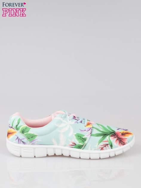 Zielone buty sportowe textile Tropicana w exotic print na podeszwie flex                                  zdj.                                  1