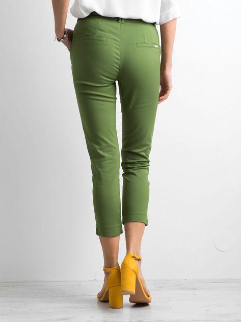 Zielone klasyczne spodnie 7/8                              zdj.                              2