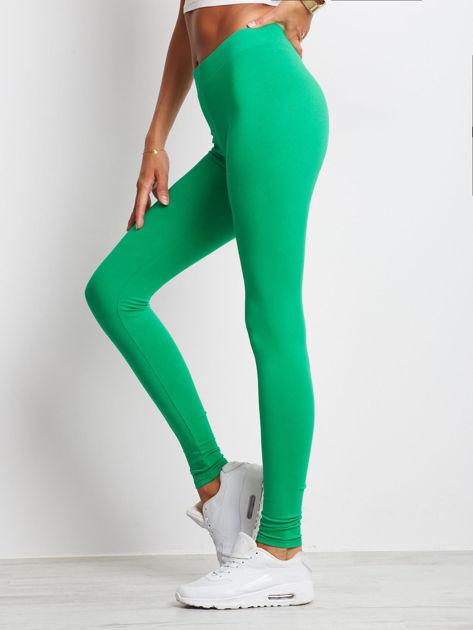 Zielone legginsy Basic                              zdj.                              3