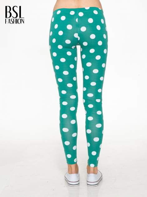 Zielone legginsy w grochy                                  zdj.                                  4