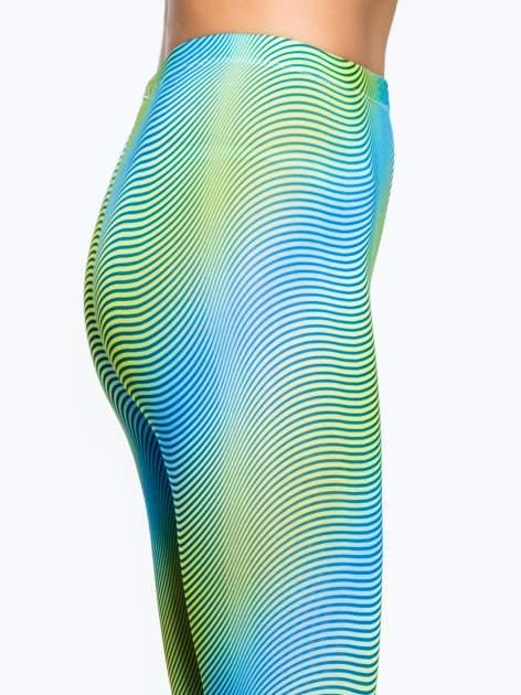 Zielone legginsy w modelujące paski                                  zdj.                                  5