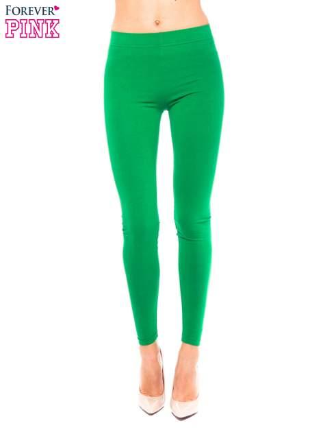 Zielone legginsy z bawełny                                  zdj.                                  1