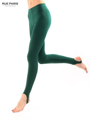 Zielone legginsy zakładane na stopę                                  zdj.                                  4
