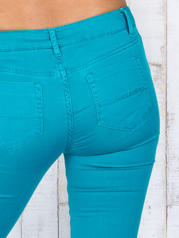 Zielone materiałowe spodnie dzwony                                  zdj.                                  5