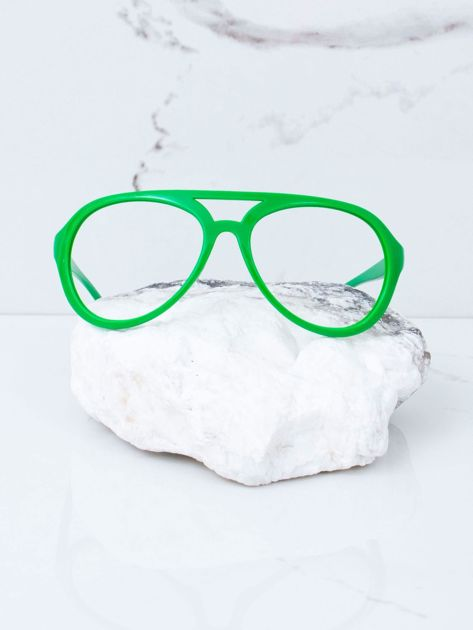 Zielone okulary bez szkieł                              zdj.                              1