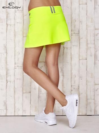 Zielone spodenki spódniczka tenisowa z szarymi wstawkami                                  zdj.                                  2