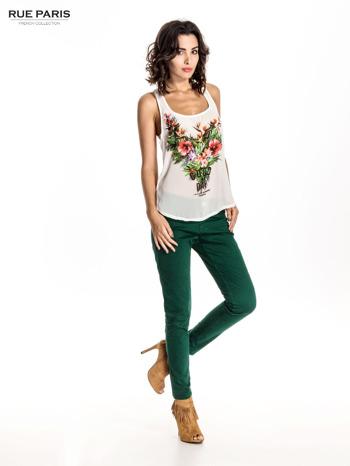 Zielone spodnie materiałowe w stylu chinos                                  zdj.                                  7