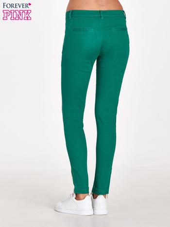 Zielone spodnie ze złotymi suwakami                                  zdj.                                  4