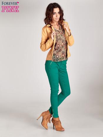 Zielone spodnie ze złotymi suwakami                                  zdj.                                  7