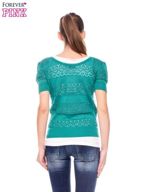 Zielony ażurowy sweterek w stylu retro                                  zdj.                                  4