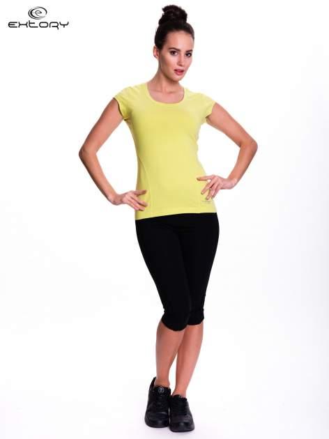Zielony damski t-shirt sportowy basic                                  zdj.                                  2