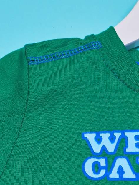 Zielony t-shirt chłopięcy PINGWINY Z MADAGASKARU                                  zdj.                                  3