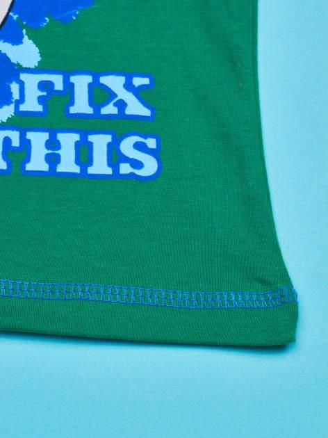 Zielony t-shirt chłopięcy PINGWINY Z MADAGASKARU                                  zdj.                                  5