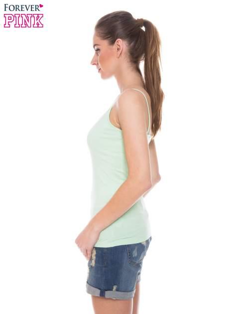 Zielony top na cienkich ramiączkach                                  zdj.                                  2
