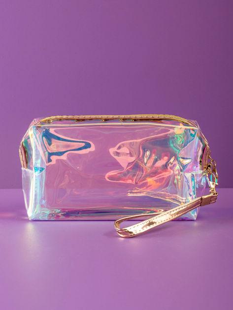Złota kosmetyczka hologramowa                              zdj.                              1