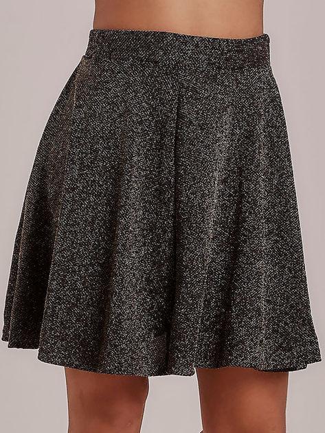 Złota rozkloszowana spódnica przeplatana metalizowaną nicią                                  zdj.                                  4