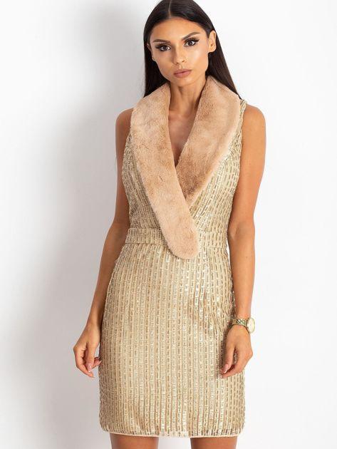 Złota sukienka Boost                              zdj.                              1