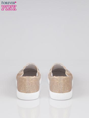Złote buty sliponki glitter                                  zdj.                                  3