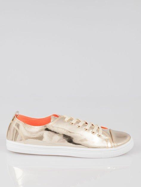 Złote metaliczne buty sportowe Juliette