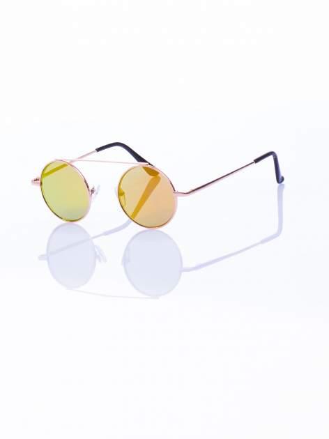 Złote okulary przeciwsłoneczne LENONKI lustrzanka                                  zdj.                                  4