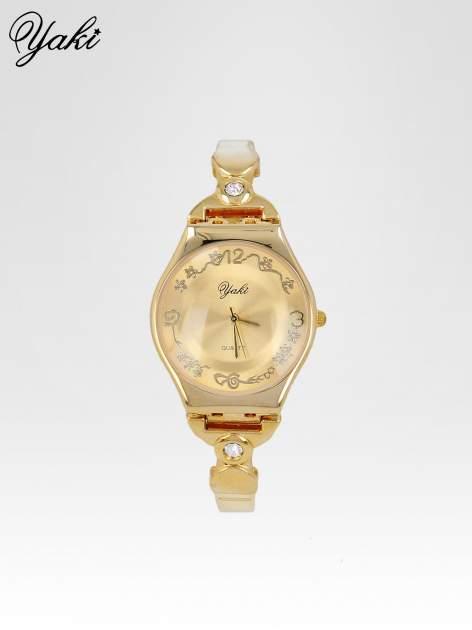 Złoty biżuteryjny zegarek damski                                  zdj.                                  1