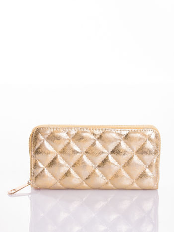 Złoty pikowany portfel