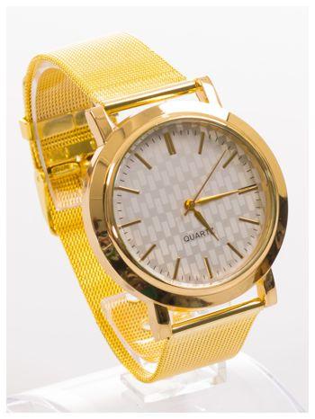 Złoty zegarek damski na metalowej bransolecie                                  zdj.                                  2
