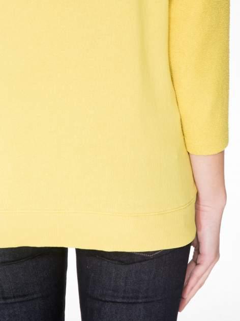 Żółta bluza oversize z łączonych materiałów                                  zdj.                                  8