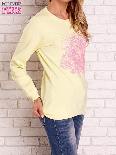 Żółta bluza z kolorowym nadrukiem                                  zdj.                                  3