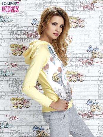 Żółta bluza z nadrukiem balonów                                  zdj.                                  3