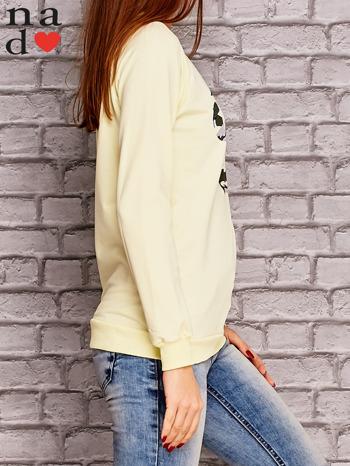 Żółta bluza z nadrukiem moro                                  zdj.                                  3