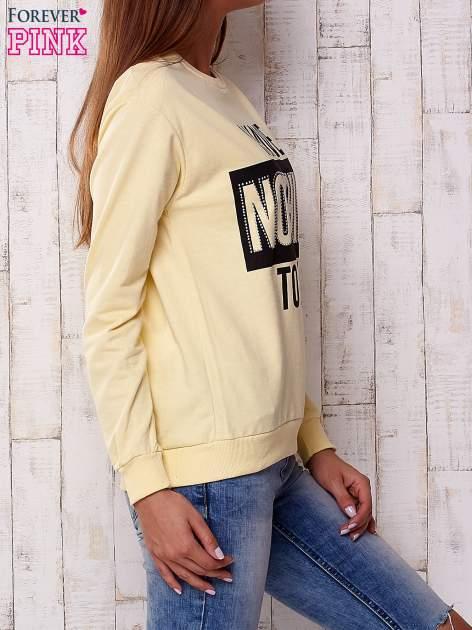 Żółta bluza z napisem I HAVE NOTHING TO WEAR                              zdj.                              3