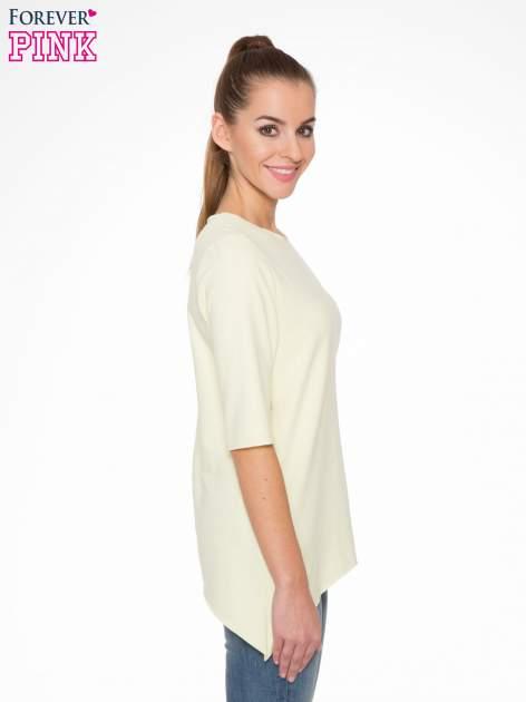 Żółta bluza z wydłużanymi bokami                                  zdj.                                  3