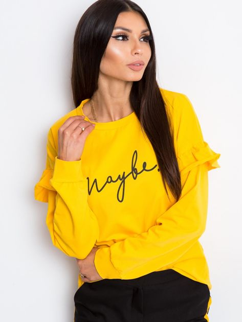 Żółta bluzka Dulce                              zdj.                              6