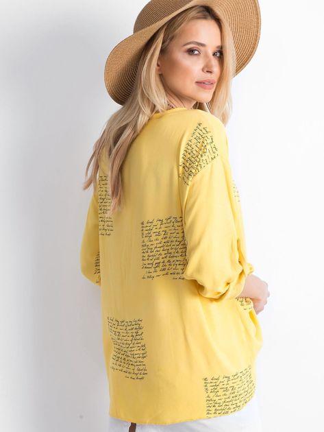 Żółta bluzka Happines                              zdj.                              2