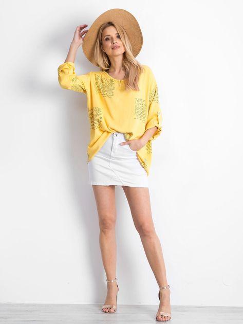 Żółta bluzka Happines                              zdj.                              4