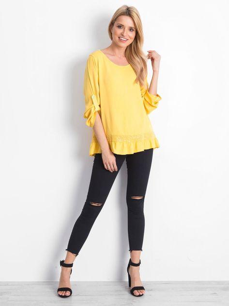 Żółta bluzka Nostalgic                              zdj.                              4