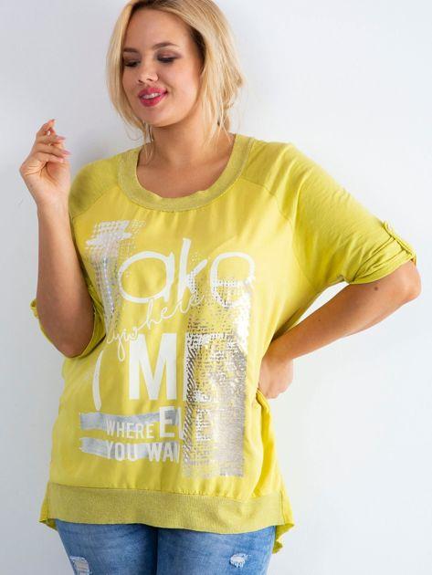 Żółta bluzka Presence PLUS SIZE