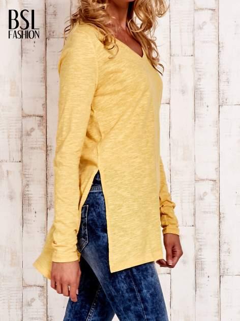 Żółta bluzka z rozporkami z boku                                  zdj.                                  3