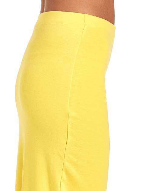 Żółta długa spódnica maxi z rozporkiem                                  zdj.                                  6