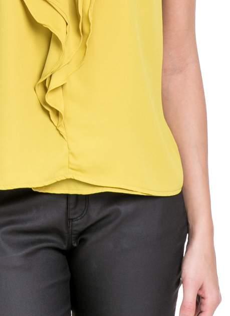 Żółta elegancka koszula z żabotem                                  zdj.                                  6