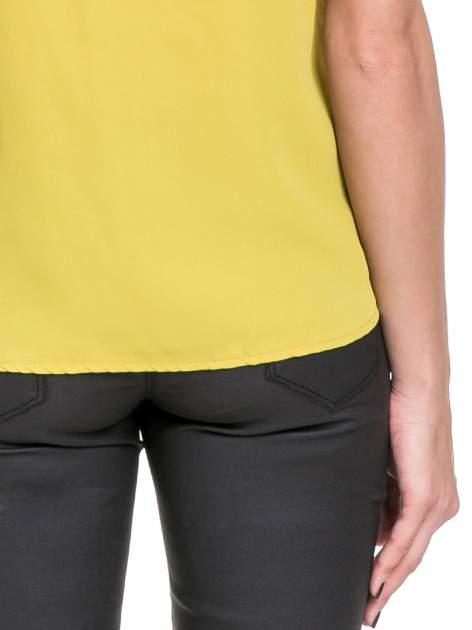Żółta elegancka koszula z żabotem                                  zdj.                                  8