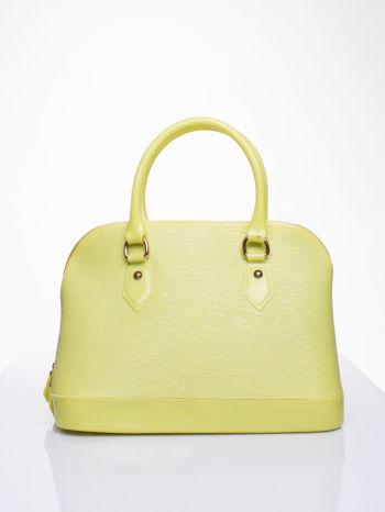 Żółta fakturowana torba gumowa kuferek z rączką
