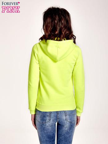 Żółta gładka bluza z kapturem                                  zdj.                                  4