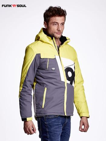 Żółta kurtka męska outdoorowa FUNK N SOUL                              zdj.                              3
