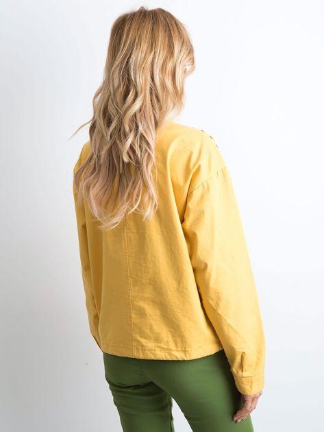 Żółta kurtka oversize                              zdj.                              2