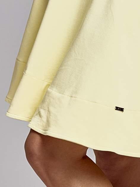 Żółta spódnica dresowa skater                                  zdj.                                  5