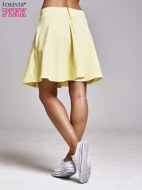 Żółta spódnica dresowa skater                                  zdj.                                  4
